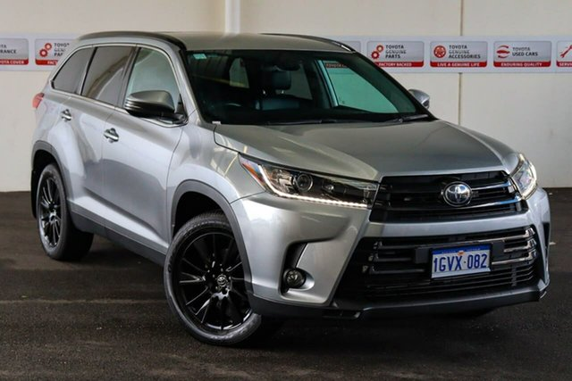 Pre-Owned Toyota Kluger GSU50R Black Edition 2WD Myaree, 2019 Toyota Kluger GSU50R Black Edition 2WD Silver 8 Speed Sports Automatic Wagon