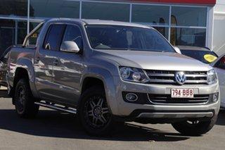2013 Volkswagen Amarok 2H MY13 TDI420 4Motion Perm Highline Beige 8 Speed Automatic Utility.