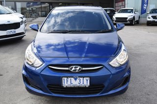 2015 Hyundai Accent RB2 MY15 Active Dazzling Blue 6 Speed Manual Hatchback.
