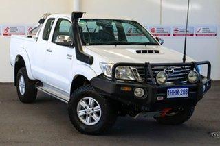 2011 Toyota Hilux KUN26R MY12 SR5 (4x4) Glacier White 5 Speed Manual X Cab Pickup.