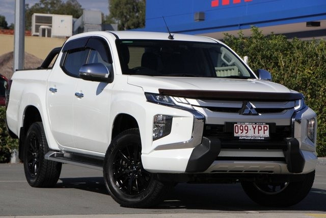 Used Mitsubishi Triton MR MY19 GLS Double Cab Premium Aspley, 2019 Mitsubishi Triton MR MY19 GLS Double Cab Premium White 6 Speed Sports Automatic Utility