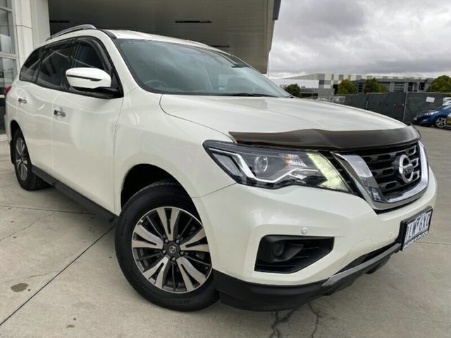 Used Nissan Pathfinder R52 Series II MY17 ST X-tronic 2WD Melton, 2018 Nissan Pathfinder R52 Series II MY17 ST X-tronic 2WD White 1 Speed Constant Variable Wagon