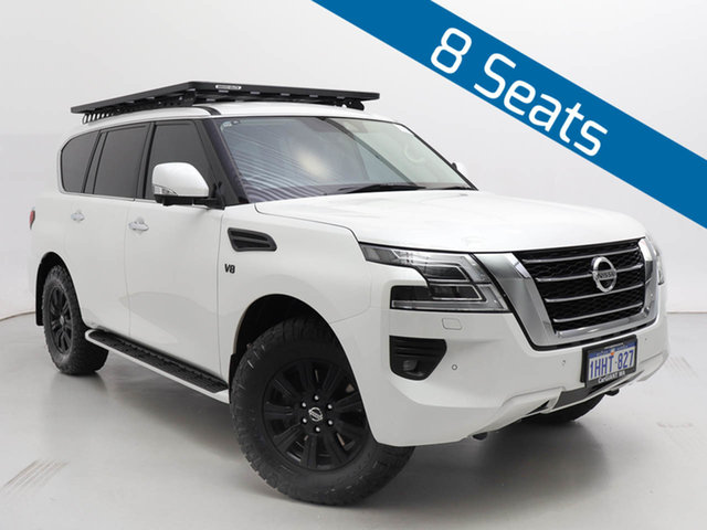 Used Nissan Patrol Y62 Series 5 MY20 TI (4x4), 2019 Nissan Patrol Y62 Series 5 MY20 TI (4x4) White 7 Speed Automatic Wagon