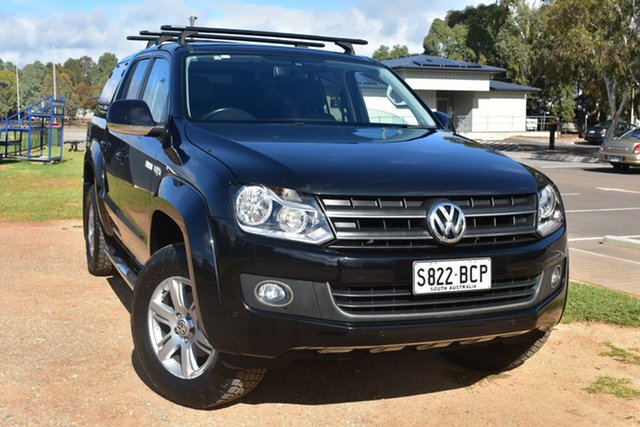Used Volkswagen Amarok 2H MY13 TDI400 4Mot Highline St Marys, 2013 Volkswagen Amarok 2H MY13 TDI400 4Mot Highline Black 6 Speed Manual Utility