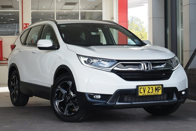 Used Honda CR-V RW MY19 VTi-E FWD Parramatta, 2019 Honda CR-V RW MY19 VTi-E FWD White 1 Speed Constant Variable Wagon
