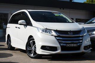 2015 Honda Odyssey RC MY16 VTi-L White 7 Speed Constant Variable Wagon.