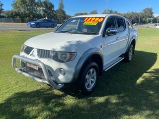 2006 Mitsubishi Triton ML MY07 GLX-R Double Cab White 5 Speed Manual Utility.