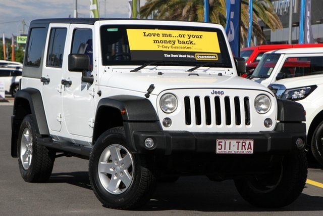 Used Jeep Wrangler JK MY2014 Unlimited Sport Aspley, 2014 Jeep Wrangler JK MY2014 Unlimited Sport White 6 Speed Manual Softtop