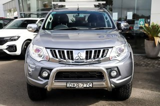 2015 Mitsubishi Triton MQ MY16 GLS Double Cab Grey 5 Speed Sports Automatic Utility