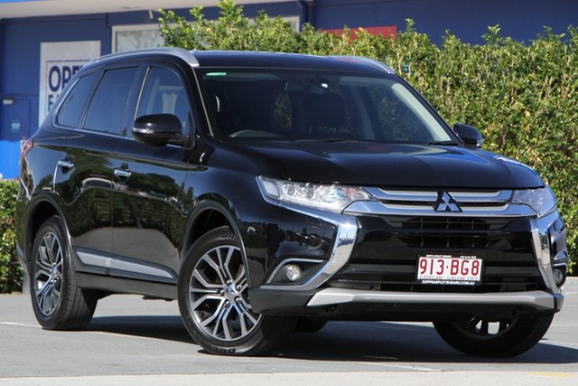 Used Mitsubishi Outlander ZK MY16 Exceed 4WD Aspley, 2016 Mitsubishi Outlander ZK MY16 Exceed 4WD Black 6 Speed Constant Variable Wagon