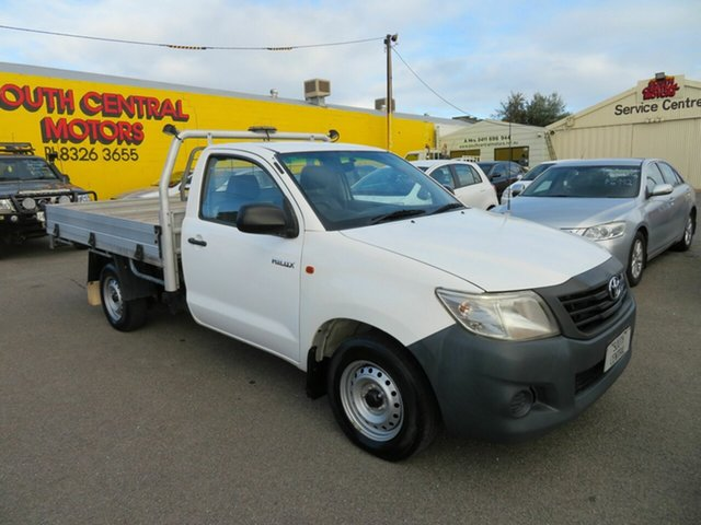 Used Toyota Hilux TGN16R MY14 Workmate Morphett Vale, 2014 Toyota Hilux TGN16R MY14 Workmate White 5 Speed Manual Cab Chassis