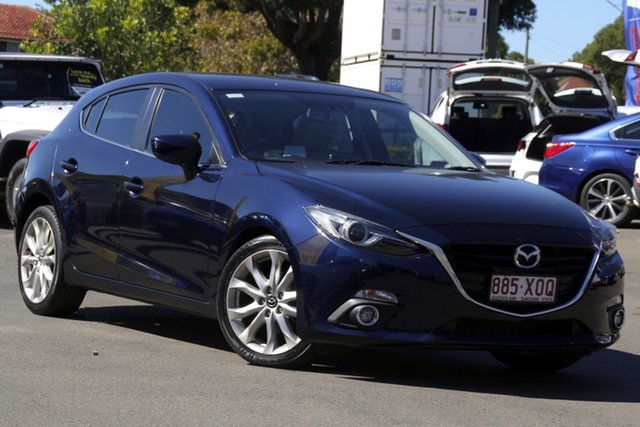 Used Mazda 3 BM5438 SP25 SKYACTIV-Drive GT Toowoomba, 2014 Mazda 3 BM5438 SP25 SKYACTIV-Drive GT Blue 6 Speed Sports Automatic Hatchback