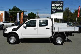 2014 Nissan Navara D40 MY13 RX (4x4) White 5 Speed Automatic Dual Cab Chassis