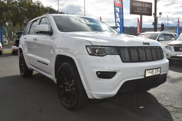 Used Jeep Grand Cherokee WK MY17 Blackhawk Gosford, 2017 Jeep Grand Cherokee WK MY17 Blackhawk White 8 Speed Sports Automatic Wagon