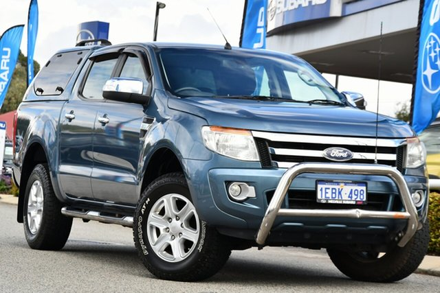 Used Ford Ranger PX XLT Double Cab Melville, 2012 Ford Ranger PX XLT Double Cab Blue 6 Speed Sports Automatic Utility
