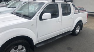 2011 Nissan Navara D40 MY11 ST White 6 Speed Manual Utility.