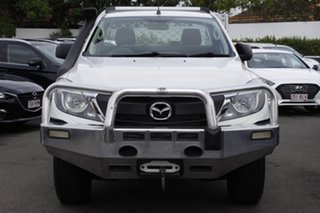 2016 Mazda BT-50 UR0YF1 XT White 6 Speed Manual Cab Chassis.