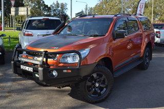 2015 Holden Colorado RG MY16 Z71 Crew Cab Orange 6 Speed Sports Automatic Utility.