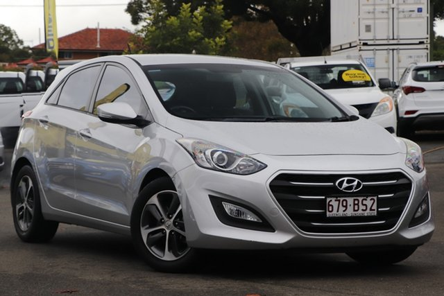 Used Hyundai i30 GD4 Series II MY16 Active X Toowoomba, 2015 Hyundai i30 GD4 Series II MY16 Active X Sleek Silver 6 Speed Manual Hatchback