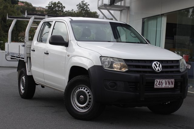 Used Volkswagen Amarok 2H MY13 TDI400 4Mot Mount Gravatt, 2013 Volkswagen Amarok 2H MY13 TDI400 4Mot White 6 Speed Manual Cab Chassis