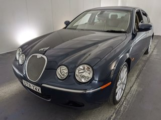 2007 Jaguar S-Type X204 MY2008 Luxury Blue 6 Speed Automatic Sedan.