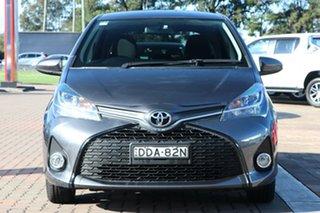 2016 Toyota Yaris NCP131R ZR Grey Metallic 4 Speed Automatic Hatchback
