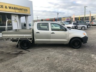 2005 Toyota Hilux RZN147R MY04 Workmate 4x2 Silver 5 Speed Manual Cab Chassis.