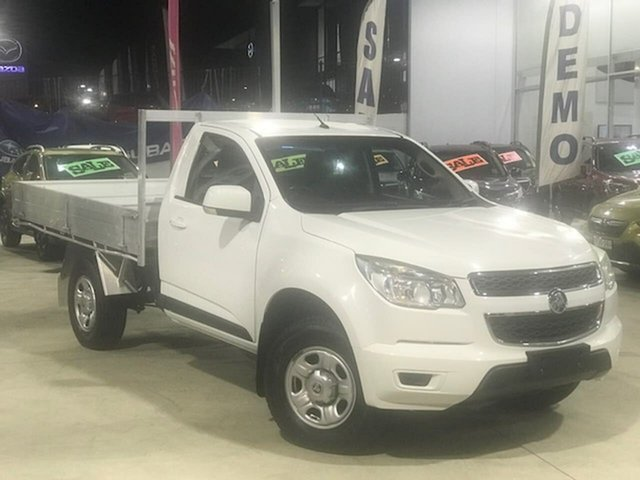 Used Holden Colorado RG MY14 LX Liverpool, 2014 Holden Colorado RG MY14 LX White 6 Speed Manual Cab Chassis
