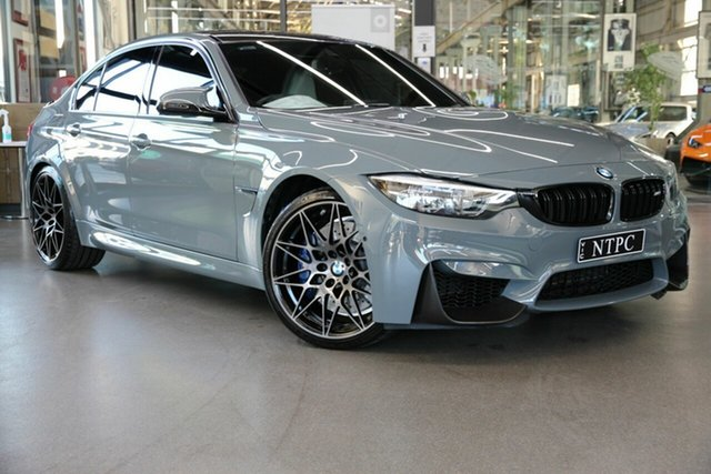 Used BMW M3 F80 LCI Competition M-DCT North Melbourne, 2018 BMW M3 F80 LCI Competition M-DCT Grey 7 Speed Sports Automatic Dual Clutch Sedan