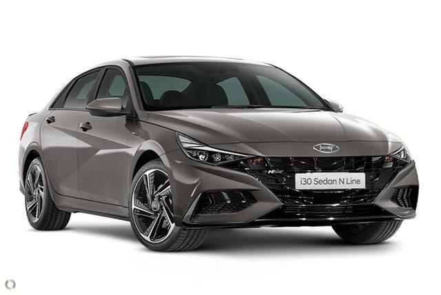 New Hyundai i30 CN7.V1 MY21 N Line D-CT Oakleigh, 2021 Hyundai i30 CN7.V1 MY21 N Line D-CT Silver 7 Speed Sports Automatic Dual Clutch Sedan