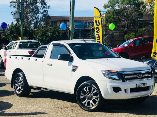 Used Ford Ranger PX XL Liverpool, 2014 Ford Ranger PX XL White 6 Speed Manual Utility