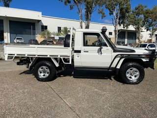 2013 Toyota Landcruiser VDJ79R MY12 Update GX (4x4) White 5 Speed Manual Cab Chassis.