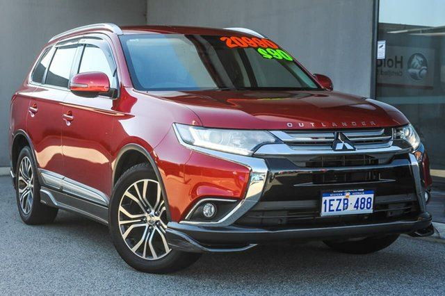 Used Mitsubishi Outlander ZK MY16 LS 2WD Osborne Park, 2015 Mitsubishi Outlander ZK MY16 LS 2WD Red/Black 6 Speed Constant Variable Wagon