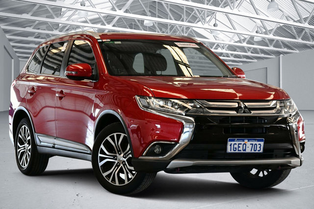 Used Mitsubishi Outlander ZK MY17 LS Safety Pack (4x2) Perth Airport, 2016 Mitsubishi Outlander ZK MY17 LS Safety Pack (4x2) Red Metallic Continuous Variable Wagon