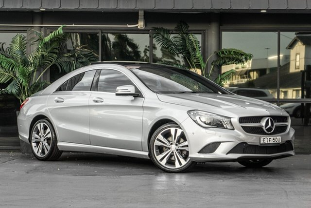 Used Mercedes-Benz CLA-Class C117 CLA200 DCT Bowen Hills, 2013 Mercedes-Benz CLA-Class C117 CLA200 DCT Silver 7 Speed Sports Automatic Dual Clutch Coupe