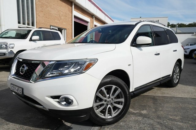 Used Nissan Pathfinder R52 MY14 ST-L X-tronic 4WD Narrabeen, 2013 Nissan Pathfinder R52 MY14 ST-L X-tronic 4WD White 1 Speed Constant Variable Wagon