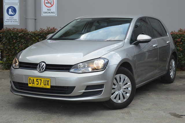 Used Volkswagen Golf VII MY17 92TSI Maitland, 2016 Volkswagen Golf VII MY17 92TSI Silver, Chrome 6 Speed Manual Hatchback