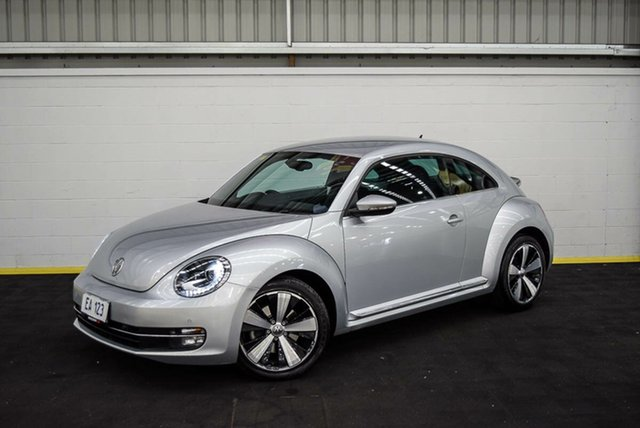 Used Volkswagen Beetle 1L MY13 Coupe DSG Canning Vale, 2013 Volkswagen Beetle 1L MY13 Coupe DSG Silver 7 Speed Sports Automatic Dual Clutch Liftback