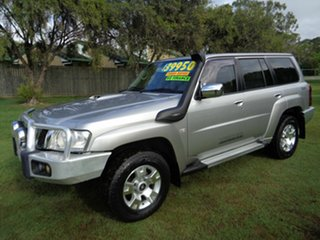 2012 Nissan Patrol GU 7 MY10 TI Silver 4 Speed Sports Automatic Wagon.