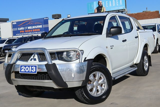 Used Mitsubishi Triton MN MY13 GL-R Double Cab Coburg North, 2013 Mitsubishi Triton MN MY13 GL-R Double Cab White 5 Speed Manual Utility