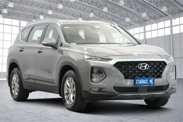 Used Hyundai Santa Fe TM MY19 Active Victoria Park, 2019 Hyundai Santa Fe TM MY19 Active WILD EXPLORER (GREY) 8 Speed Sports Automatic Wagon