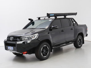 2018 Toyota Hilux GUN126R MY19 Rugged X (4x4) Black 6 Speed Automatic Double Cab Pick Up.