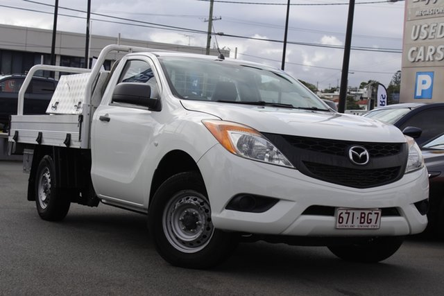 Used Mazda BT-50 UP0YD1 XT 4x2 Mount Gravatt, 2015 Mazda BT-50 UP0YD1 XT 4x2 White 6 Speed Manual Cab Chassis