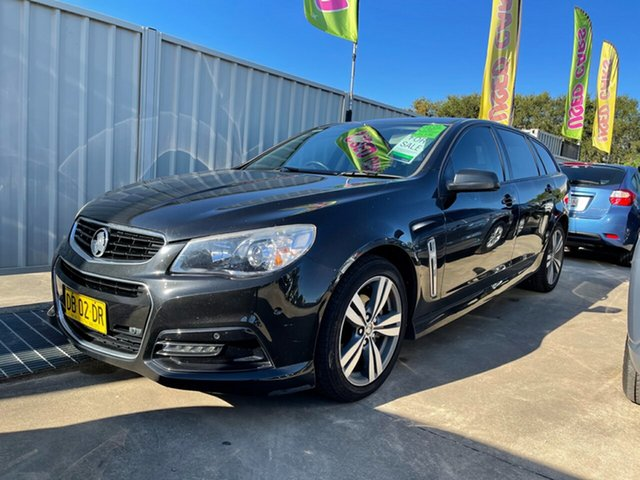 Used Holden Commodore VF MY14 SV6 Sportwagon Glendale, 2013 Holden Commodore VF MY14 SV6 Sportwagon Black 6 Speed Sports Automatic Wagon