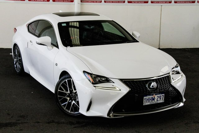 Pre-Owned Lexus RC350 GSC10R MY16 F Sport Myaree, 2016 Lexus RC350 GSC10R MY16 F Sport White 8 Speed Automatic Coupe
