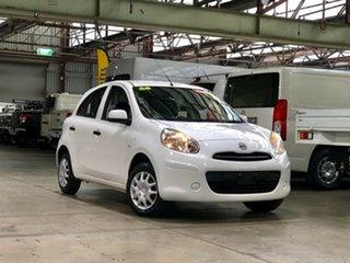 2012 Nissan Micra K13 ST White 4 Speed Automatic Hatchback.