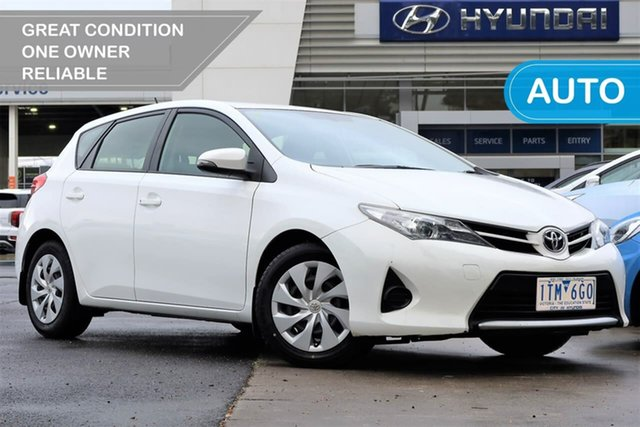 Used Toyota Corolla ZRE182R Ascent S-CVT South Melbourne, 2014 Toyota Corolla ZRE182R Ascent S-CVT White 7 Speed Constant Variable Hatchback