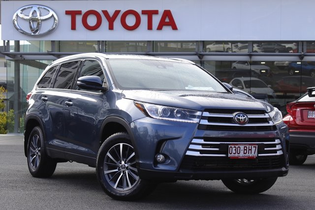 Pre-Owned Toyota Kluger GSU50R GXL 2WD Upper Mount Gravatt, 2019 Toyota Kluger GSU50R GXL 2WD Blue 8 Speed Sports Automatic Wagon