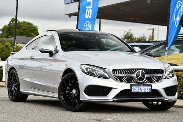 Used Mercedes-Benz C-Class C205 C300 7G-Tronic + Melville, 2016 Mercedes-Benz C-Class C205 C300 7G-Tronic + Silver 7 Speed Sports Automatic Coupe