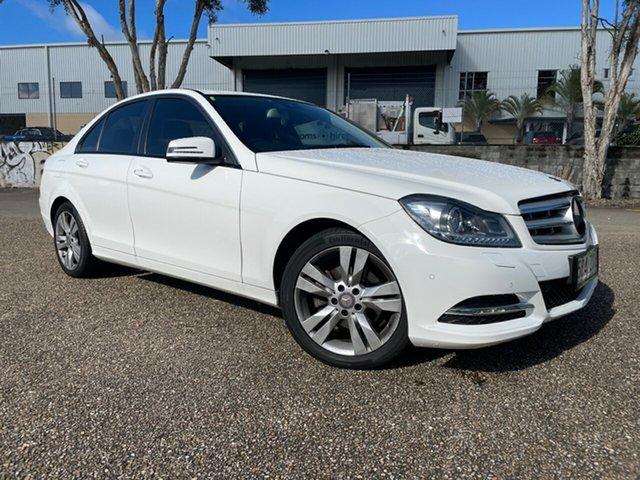 Used Mercedes-Benz C200 W204 MY12 Elegance BE Underwood, 2013 Mercedes-Benz C200 W204 MY12 Elegance BE White 7 Speed Automatic G-Tronic Sedan